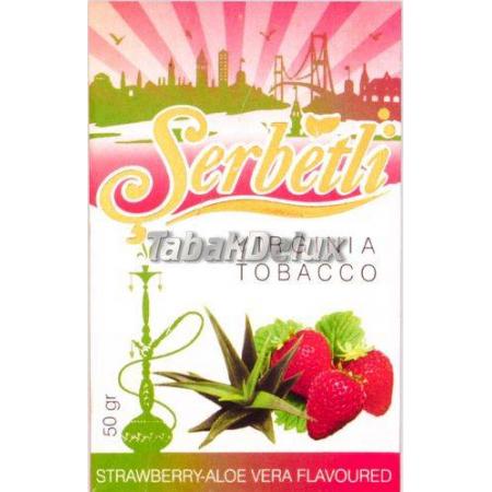 Serbetli Strawberry Aloe Vera (Клубника Алоэ) 50 грамм