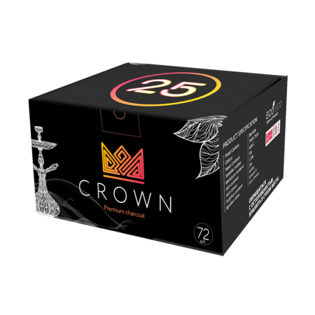 Уголь Crown Classic 1 кг (72 кубика) В упаковке