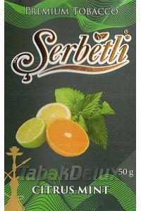 Serbetli Black Citrus Mint (Цитрус Мята) 50 грамм