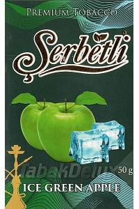 Serbetli Black Ice Green Apple (Лёд Зеленое Яблоко) 50 грамм