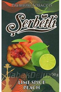 Serbetli Black Lime Spice Peach (Лайм Пряный Персик) 50 грамм