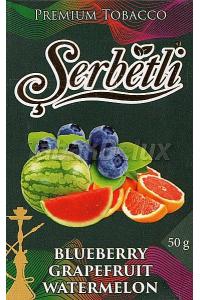 Serbetli Black Blueberry Grapefruit Watermelon (Черника Грейпфрут Арбуз) 50 грамм