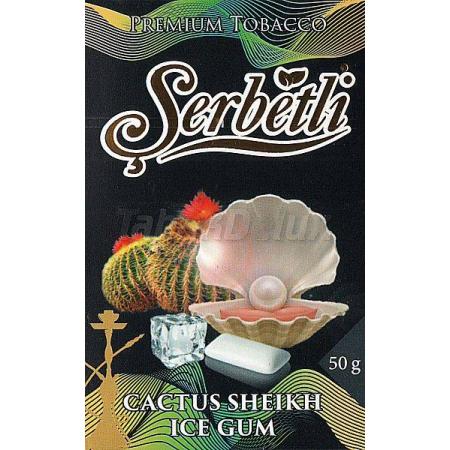 Serbetli Black Cactus Sheikh Ice Gum (Лёд Жвачка Кактус) 50 грамм