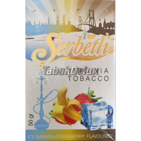 Serbetli Ice Banana Strawberry (Лёд Банан Клубника) 50 грамм