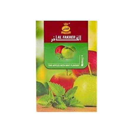 Табак, заправка для кальяна Al Fakher Two Apple Mint (Двойное Яблоко Мята) 50 грамм